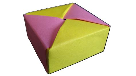 origami container with lid easy origami box with lid www pixshark images