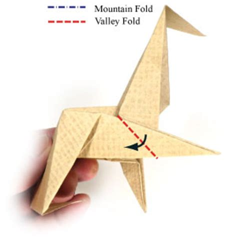 Origami Swivel Fold - how to make an origami chair with triangular legs page 10