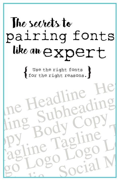 design font rules best practices for pairing fonts lynnette cretu art design