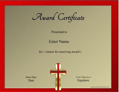 Christian Certificate Templates christian certificate template customizable