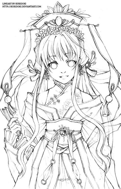 doodle line drawings hana hime lineart by kuridoki on deviantart