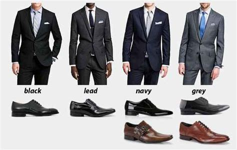 what color shoes to wear with grey suit visual guide to combine suits and shoes twill mens