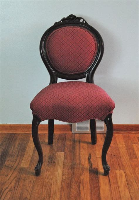 furniture upholstered vanity chair with heart shaped vintage upholstered red armless vanity chair with engraved