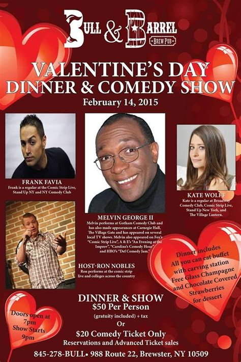 valentines day comedy bull and barrel brew pub s day comedy show