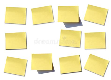 mettre un post it sur le bureau mur de post it photo stock image du papier jaune