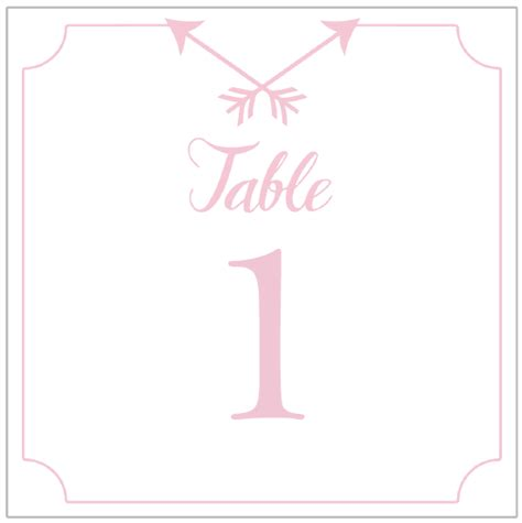 printable table number cards template free printable wedding table numbers arrow design