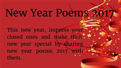 new year poem happy new year poems 2017