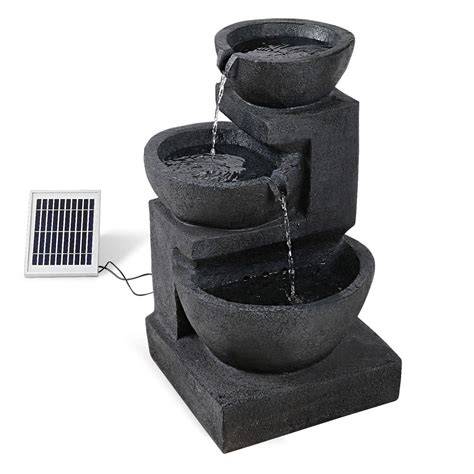 solar fountains with lights solar with led lights