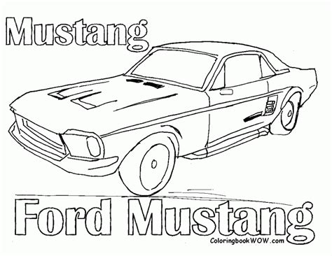 coloring pictures mustang cars car coloring pages bestofcoloring