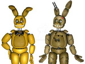 Springbonnie and withered springbonnie xd by fredyzoreartist on