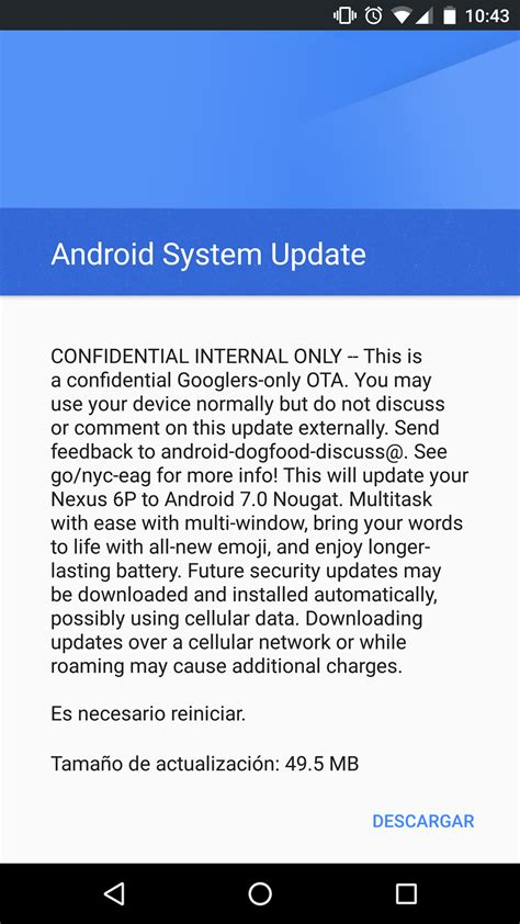 system updater android a redditor gets android nougat ota meant for googlers