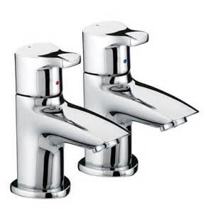 Bristan capri contemporary basin pillar taps chrome cap 1 2 c at