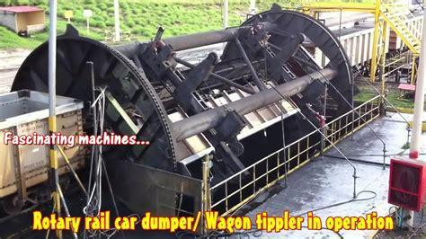 Coal Car Dumper by Rotary Rail Car Dumper Wagon Tippler In Operation