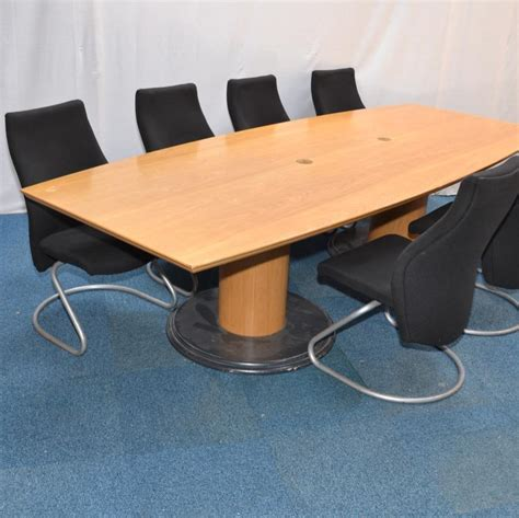 Oak Boardroom Table Oak Veneer 3000x1200 Boardroom Table