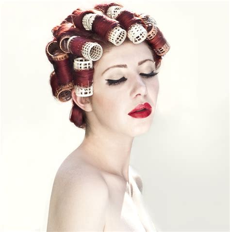 women in hair rollers 107 best images about