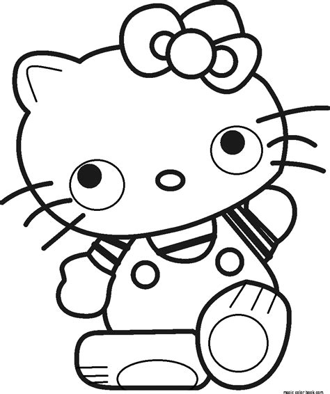 hello kitty cat coloring pages girls cat cartoon hello kitty coloring pages online free