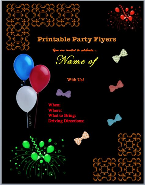 free printable event flyer templates 10 best images of free printable event flyer templates free printable flyers templates