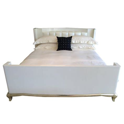 mid century king bed mid century eastern king bed in lacquer over gesso with