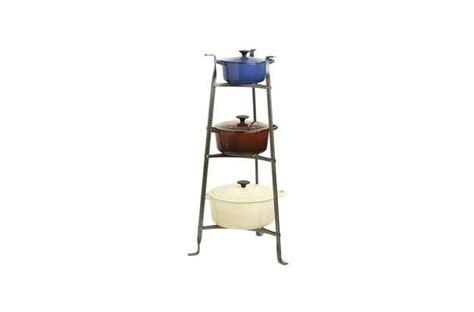 Tiered Pot Rack by Pin By Foodista On Tools You Need