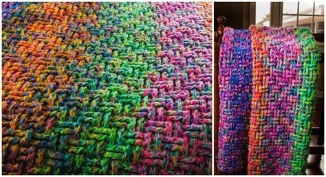 woven basket stitch knitting crochet basket weave stitch blanket pretty ideas