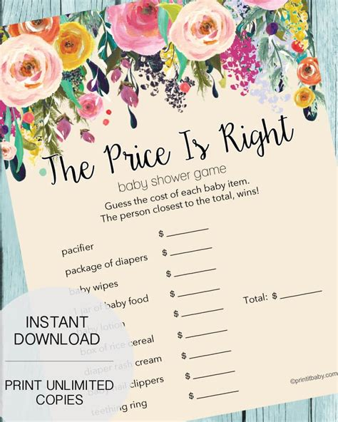 Baby Shower Price Is Right by The Price Is Right Baby Shower Garden Flowers
