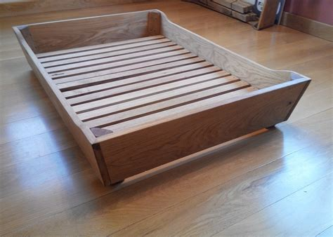 wooden dog bed oak dog bed frames