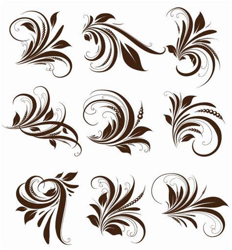 floral design elements vector vector floral elements for design free vector graphics