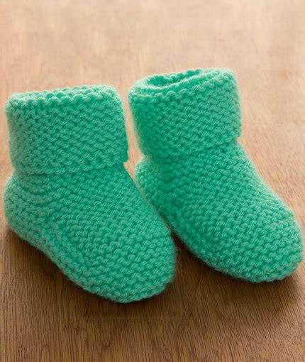 booties knitting garter stitch baby booties