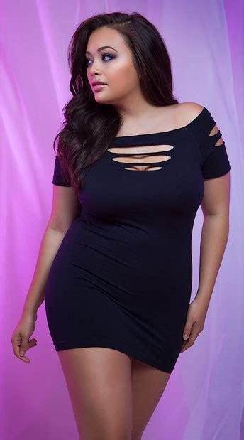 Little Black Club Dress Plus Size
