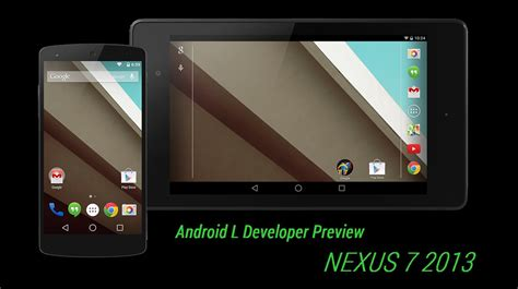 how to nexus 7 2013 android l developer preview installation guide the android soul