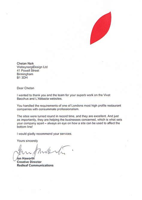 Reference Letter Restaurant web design birmingham logo design ecommerce web