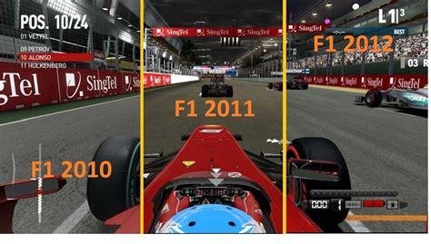Formula 1 F1 2011 f1 2012 vs f1 2011 vs f1 2010 graphics sound