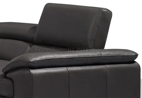 a973 sofa in slate grey premium leather by j m w options