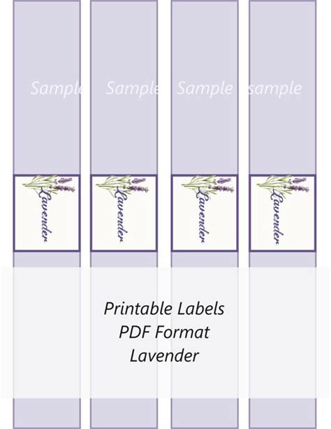 printable lavender labels soap labels lavender and soaps on pinterest