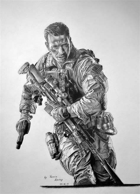 4 Drawing Pencil by Battlefield 4 Pencil Drawing By Al54xx On Deviantart