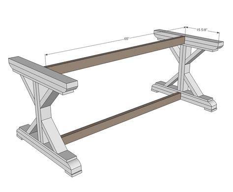 ana white farmhouse table plans ana white build a fancy x farmhouse table free and