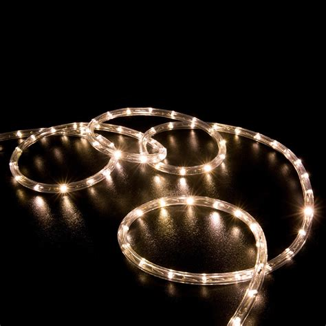 50 warm white led rope light home outdoor christmas
