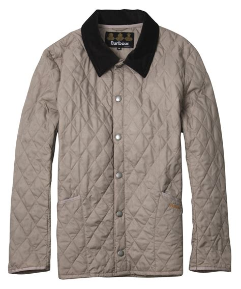 barbour grey liddesdale quilted jacket in gray for