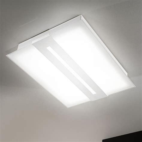 plafoniere moderne da soffitto ladario rettangolare da soffitto in vetro satinato