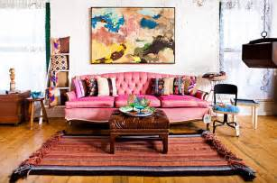 Bohemian Living Room Furniture Bohemian Style Interiors Living Rooms And Bedrooms