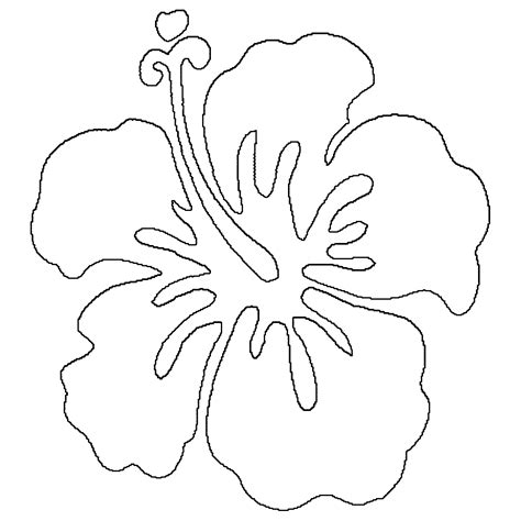coloring page of hawaii s state flower hawaiian flowers coloring page coloring home