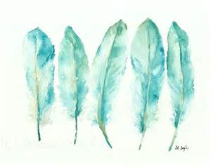 water color feather grow creative blue goose feathers
