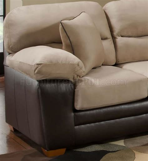 leather and microfiber sofa mocha microfiber sofa loveseat set w bonded leather base