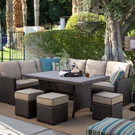 sofa sectional patio dining set all weather outdoor sectional sofa converstational set
