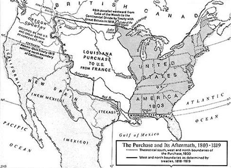 louisiana purchase map key center for the study of the pacific northwest
