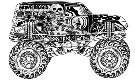 grave digger truck coloring pages grave digger truck coloring pages