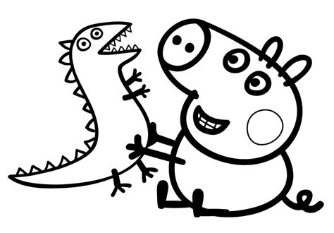 peppa pig coloring page free coloring pages of peppa pig