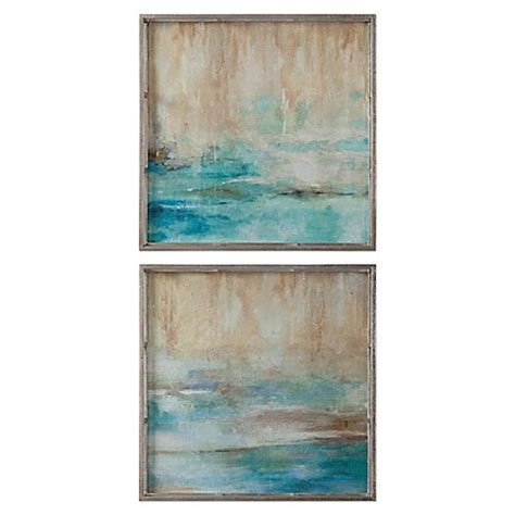 abstract bathroom wall art uttermost through the mist abstract wall art set of 2