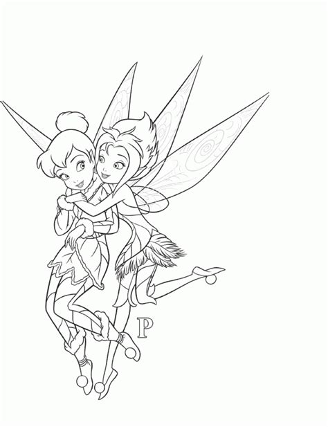 tinkerbell and fairy friends coloring pages coloring home