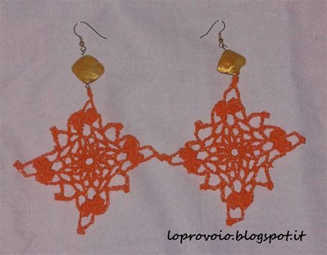 all uncinetto orecchini quadrati alluncinetto crochet earrings